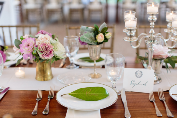 Place Cards on Leaves