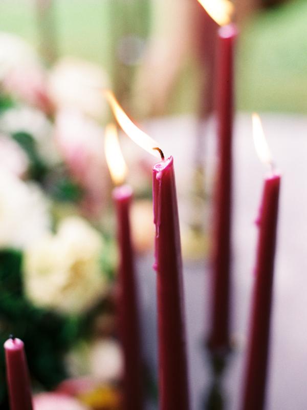 Purple Wedding Candles