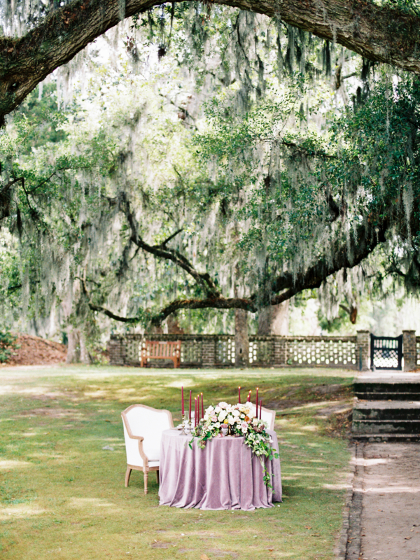 Sweetheart Table under Oak Tree
