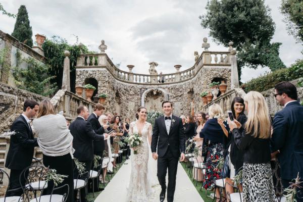 Wedding Ceremony at Tuscany Villa