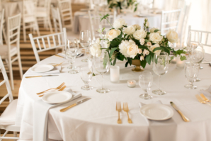 Wedding Reception in Pale Gray and Ivory