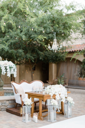 Wedding Sweetheart Table with Love Seat