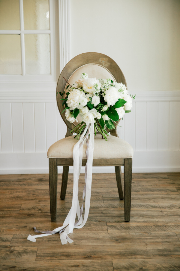 White Fluffy Bride Bouquet