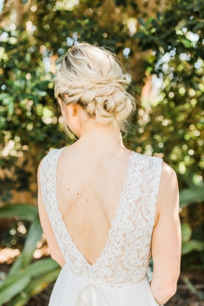 BHLDN Lace and Chiffon Gown