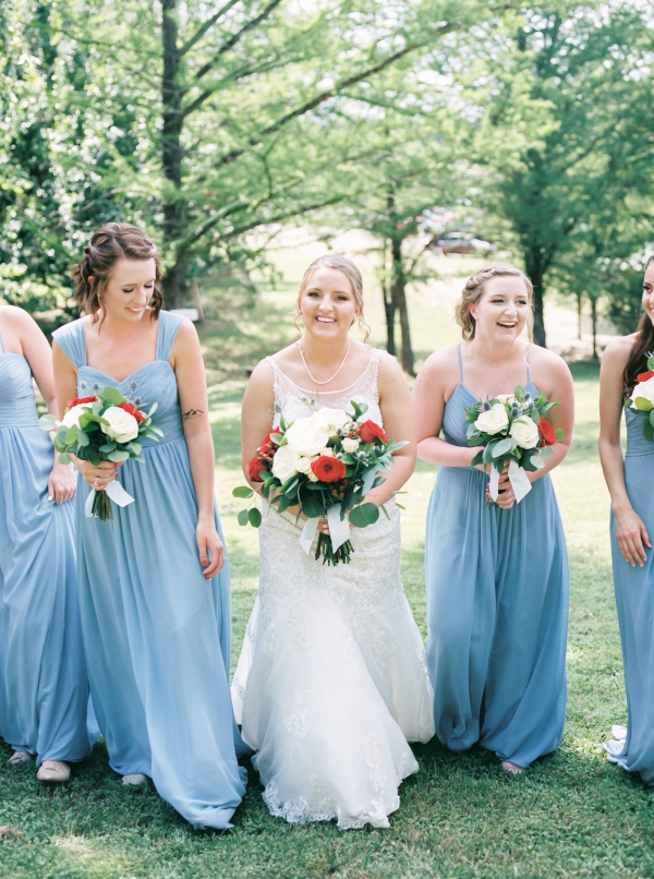 Cornflower Blue Bridesmaids Dresses