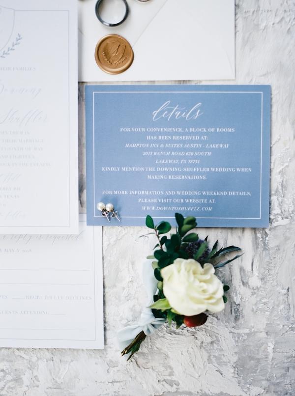 Cornflower Blue Wedding Invitations