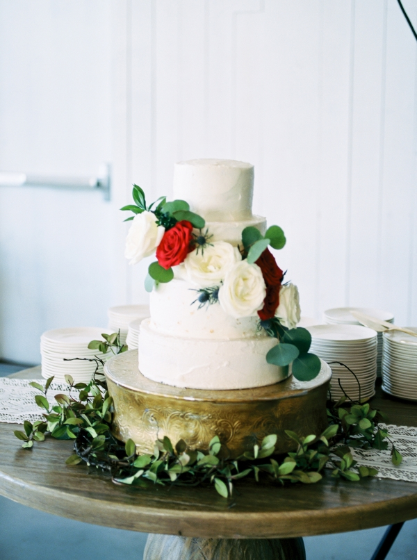 Four Tier White Wedding Cake