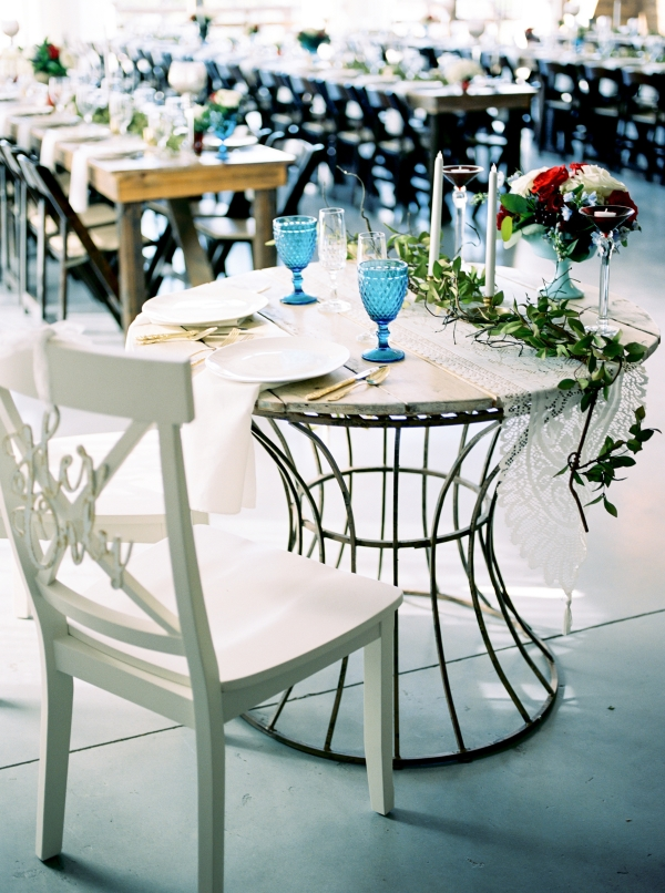 Industrial Wedding Tables
