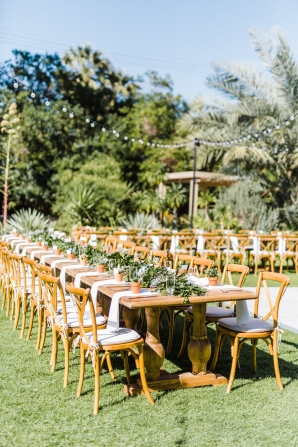 Long Wood Tables for Outdoor Wedding