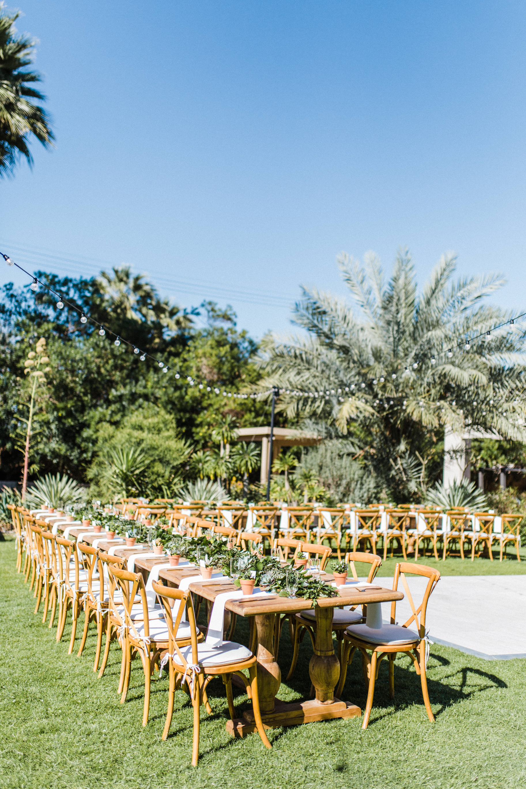 Outdoor Estate Tables at Wedding