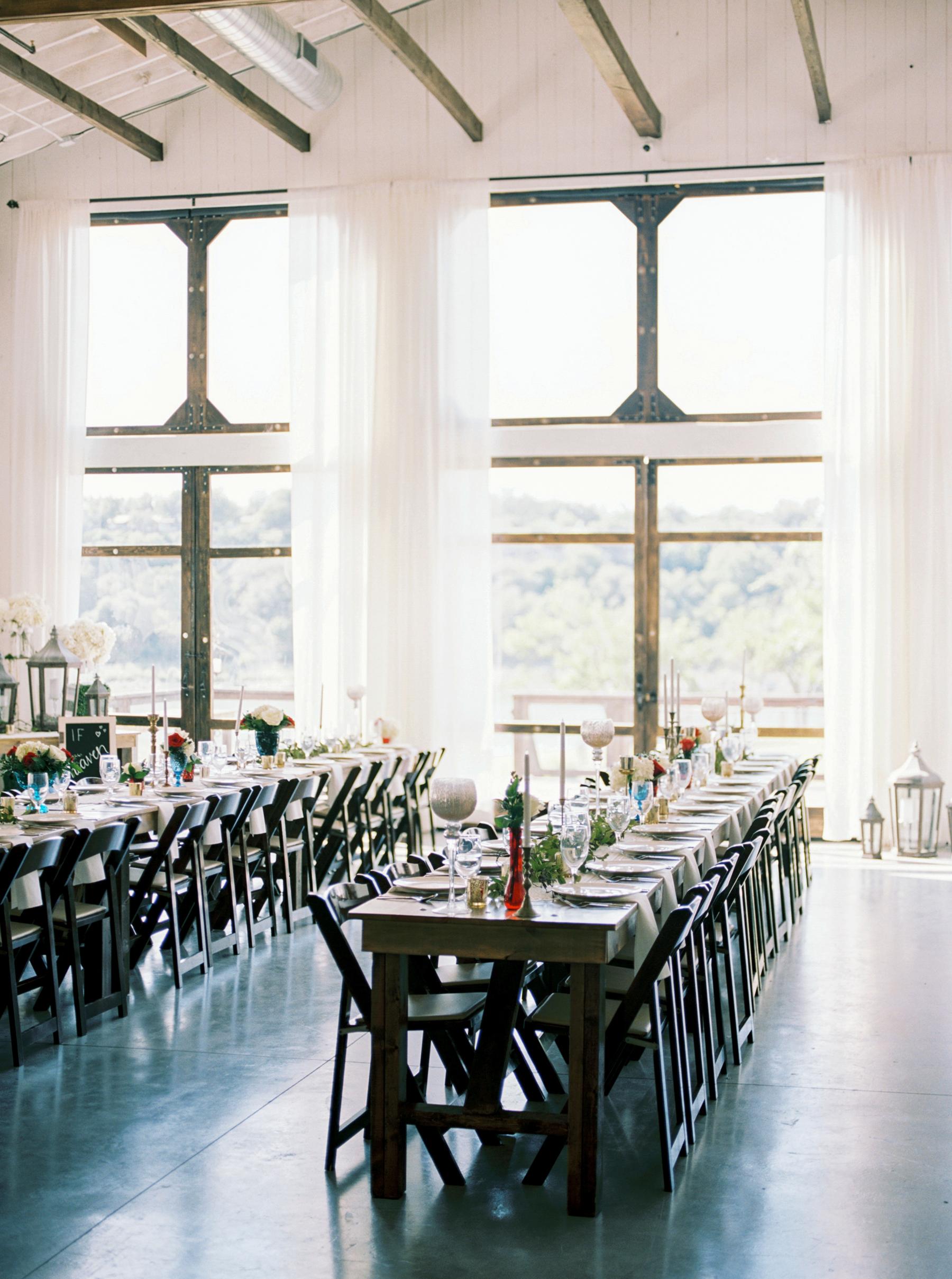Rustic Long Wood Wedding Tables