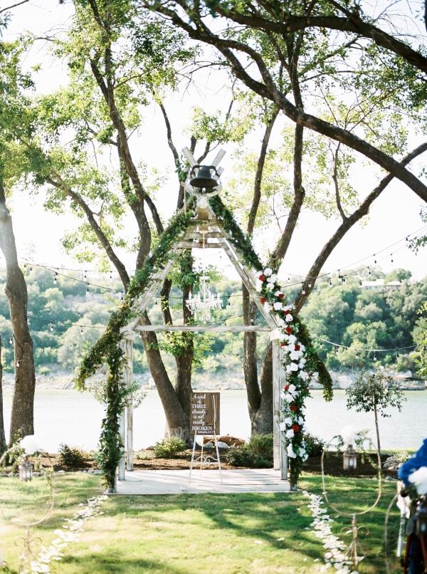 Wedding Arbor with Greenery