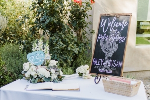 Welcome Guest Book Table