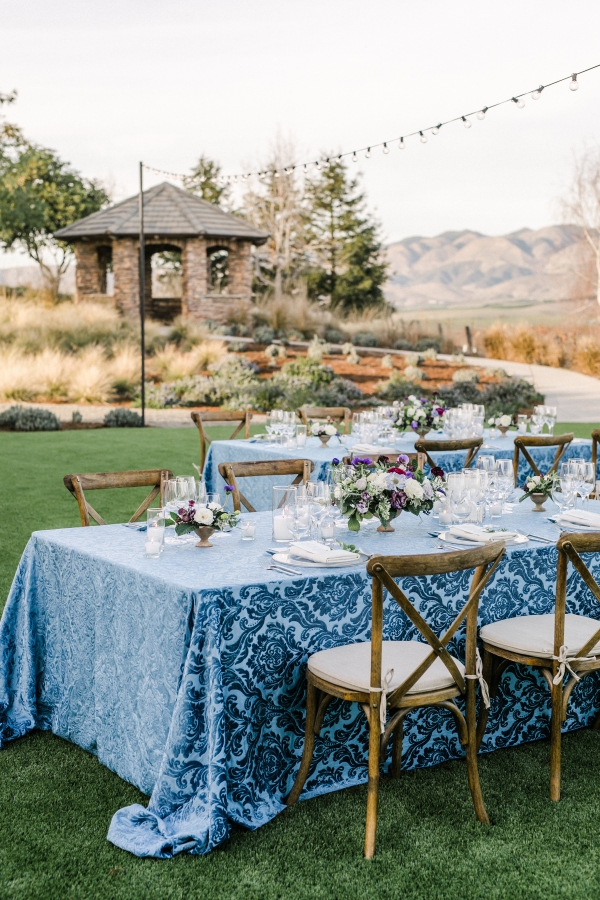 Blue Wine Country Wedding