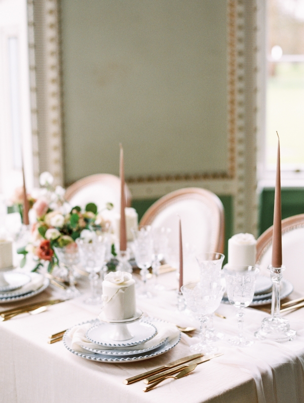 Blush and Taupe Table
