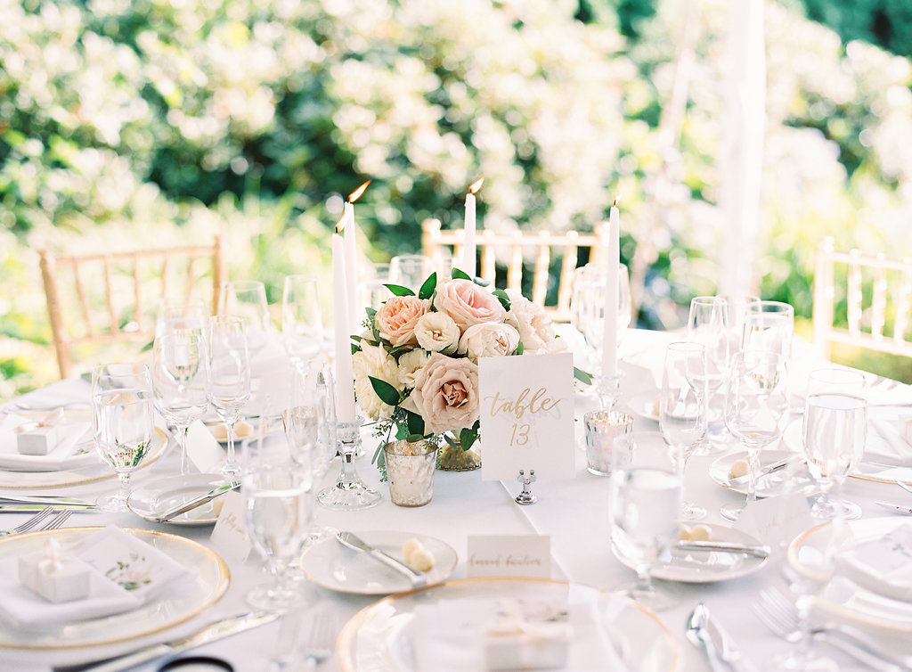Blush and White Outdoor Wedding