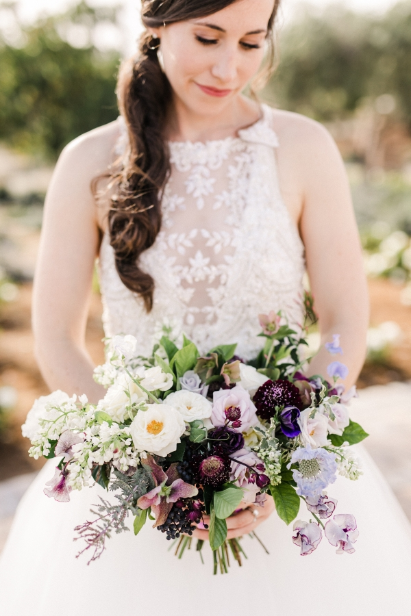 Bouquet in Shades of Blue and Purple
