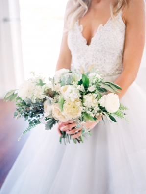 Bride with Butter Yellow Bouquet