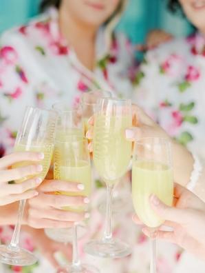 Bridesmaids Toasting