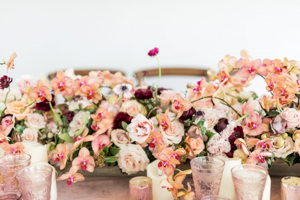 Coral Orchid Centerpiece