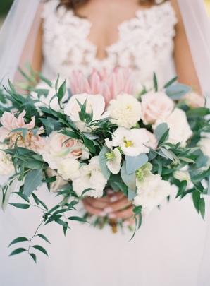 Elegant Blush and Ivory Bride Bouquet