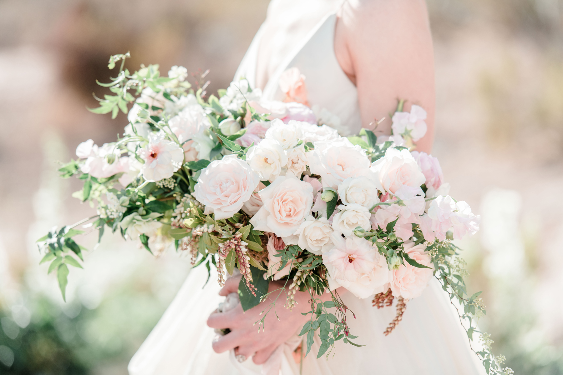Elegant Compote Bouquet in Blush