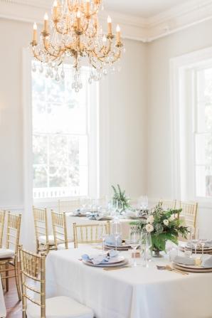 Elegant Light Airy Charleston Wedding Reception