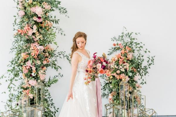 Elegant Mauve and Coral Wedding Ideas
