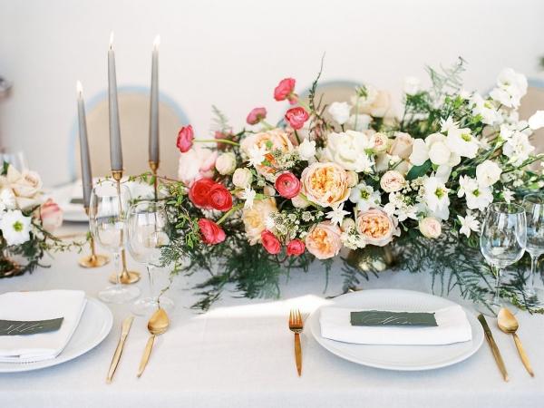 Elegant Romantic Pink and Green Wedding Reception