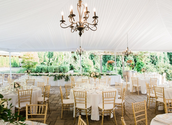 Elegant White and Blush Tent Wedding