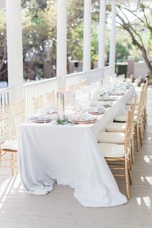 Elegant White and Gold Coastal Wedding