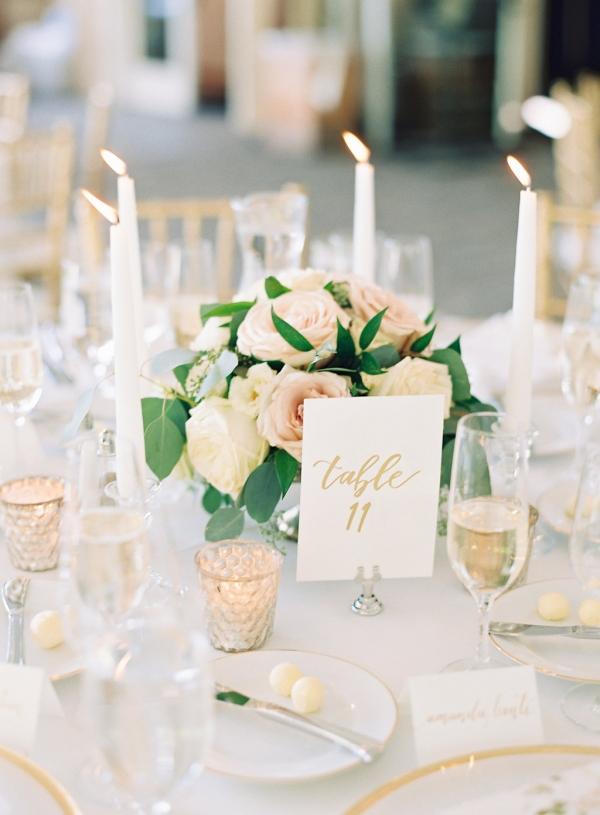 Gold White and Blush Wedding