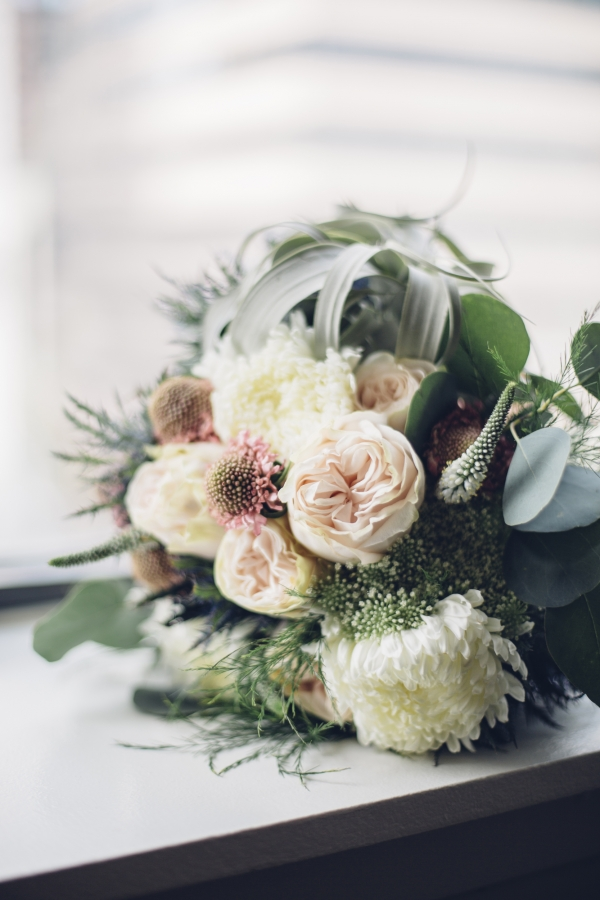 Green and Blush Bridal Bouquet