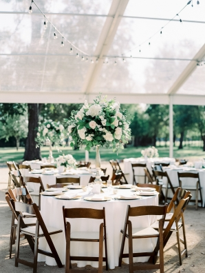 Green and White Tent Wedding