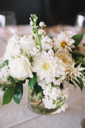 Ivory and White Centerpiece