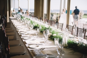 Long Table with Greenery