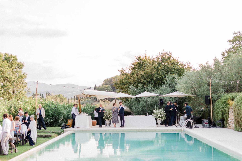 Poolside Wedding in Tuscany