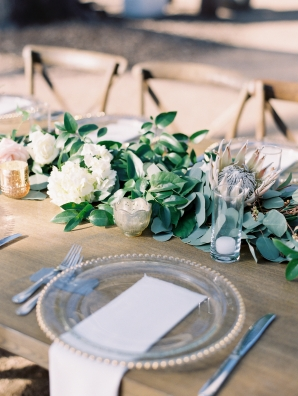 Protea and Greenery Centerpiece