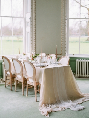 Romantic Chiffon Wedding Table Linen