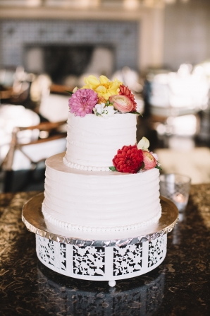 Two Tier Simple Wedding Cake