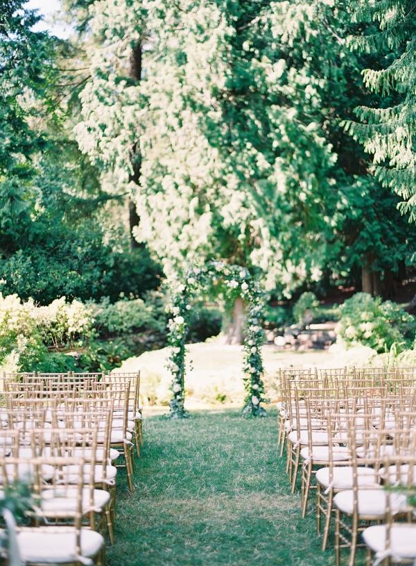 Wedding Ceremony Under Trees