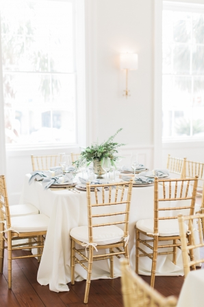 Wedding Reception with Pale Pastels and Gold