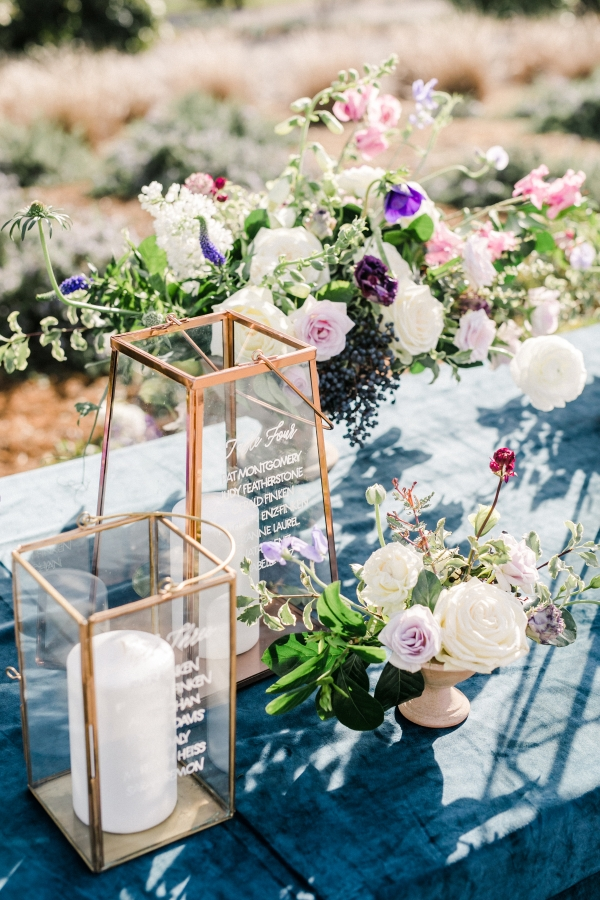 Wedding Seating Chart on Lanterns