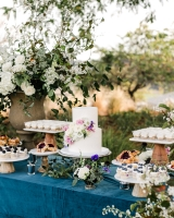 Whimsical Garden Wedding Cake Table
