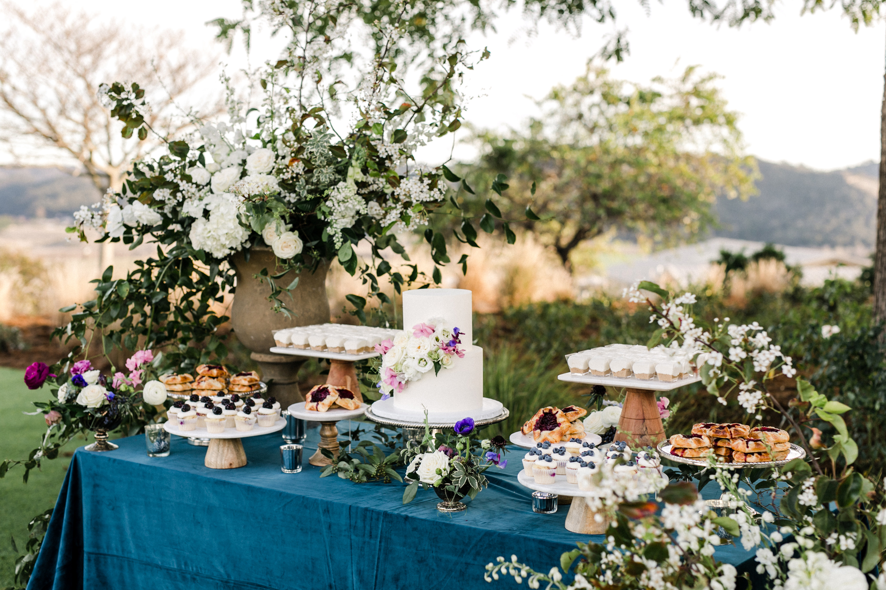 Whimsical Garden Wedding Cake Table
