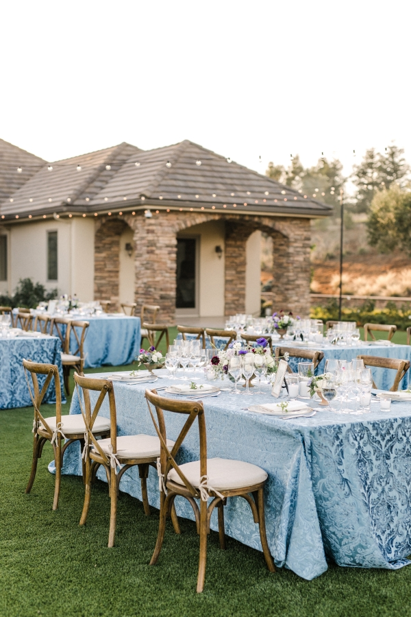 Wine Country Wedding in Blue and Purple