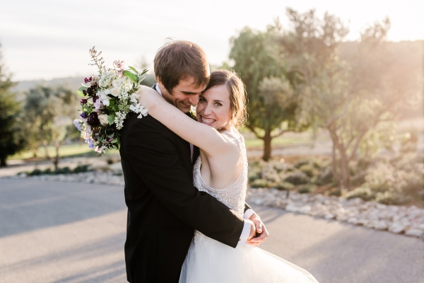 Wine Country Wedding in Shades of Blue 15