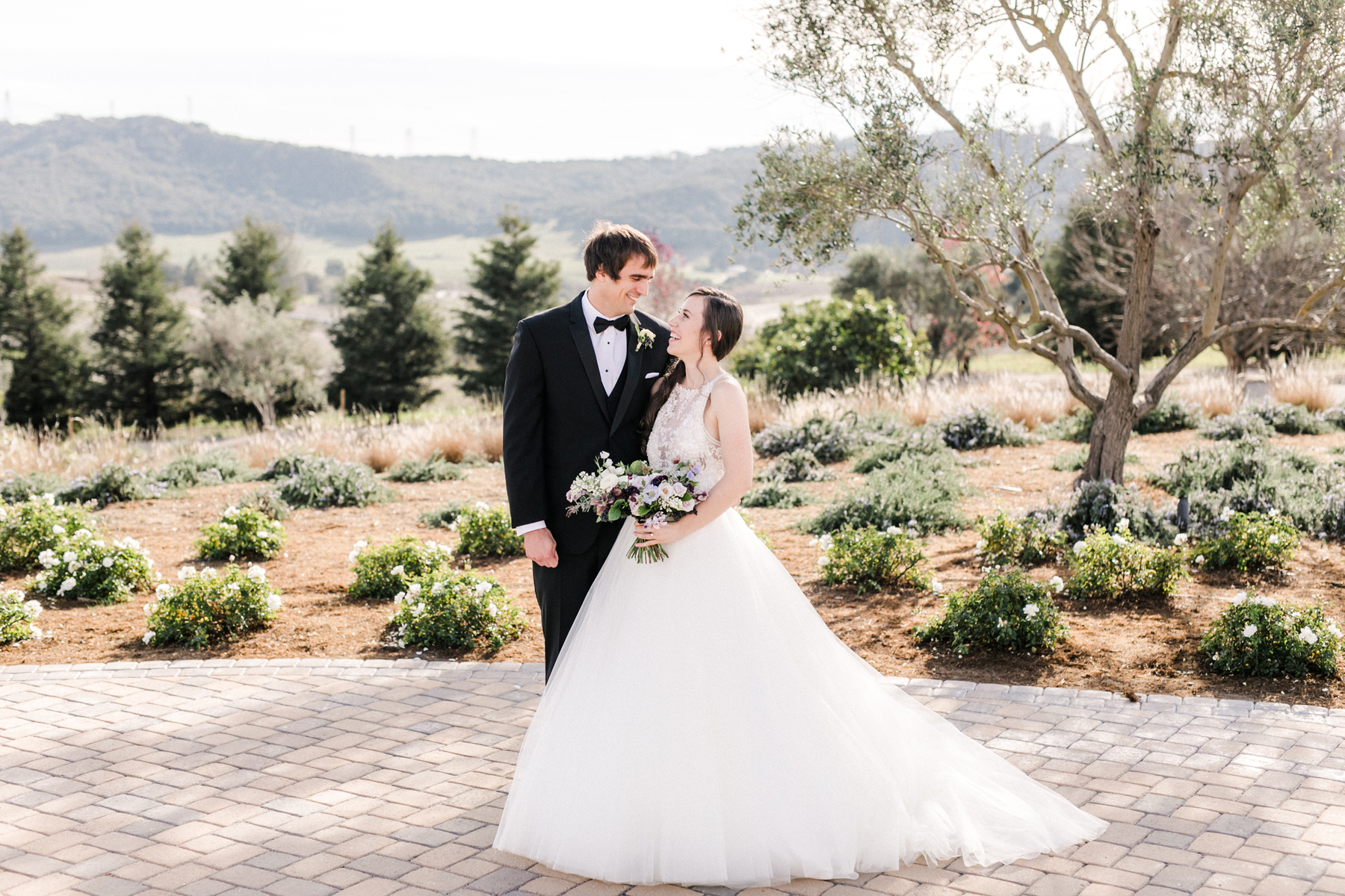 Wine Country Wedding in Shades of Blue 6
