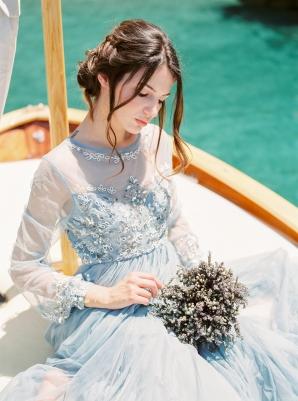 Blue Wedding Dress in Italy