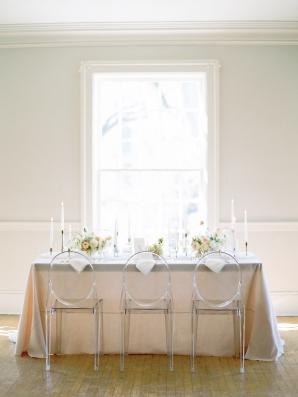 Blush and Ivory Wedding Table